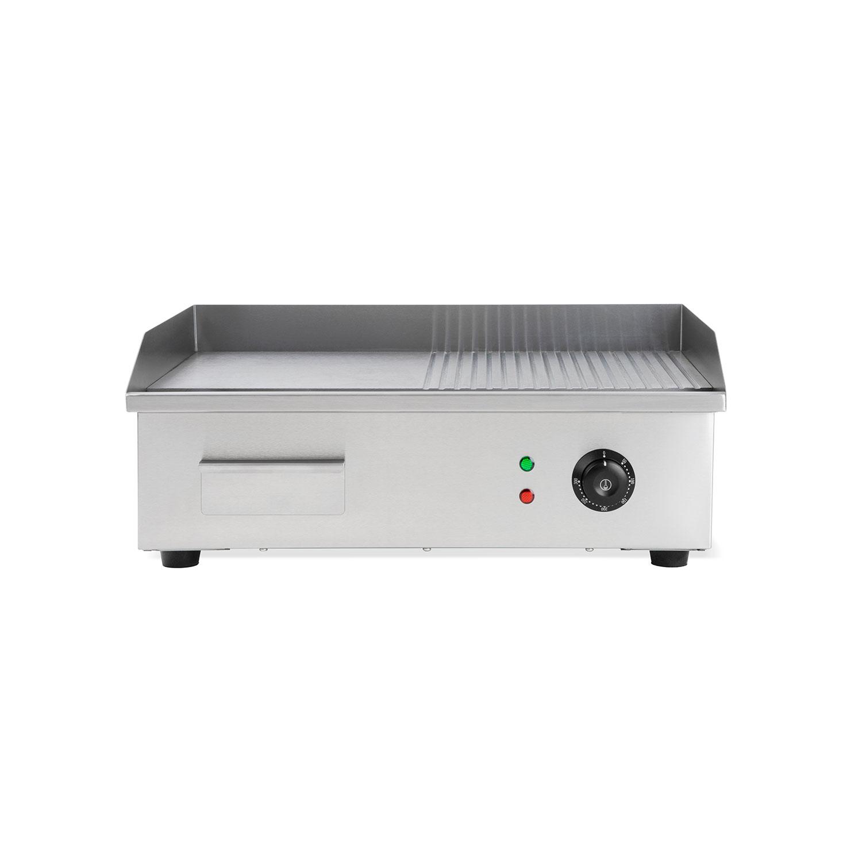 Vertes 3000W Elektro Grillplatte geriffelt Grill Bratplatte Bräter Griddleplatte